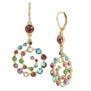 Betsey Johnson multicolor swirl earrings
